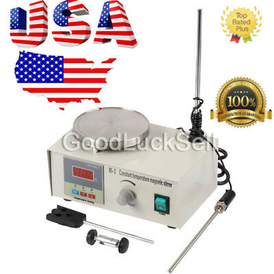 Magnetic Stirrer with Heating Plate 85-2 Hotplate Digital Mixer Display 110V US