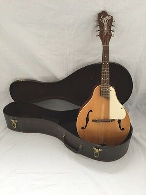 VINTAGE & RARE c1950s Silvertone Mandolin - nice condition + OSSC. Sounds Great