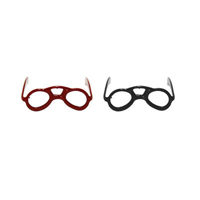 2 Pair Spectacles Dolls House Miniature Accessory Reading Glasses 1.12 Scale