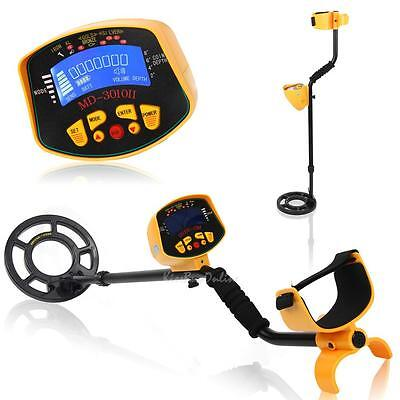 LCD Screen Metal Detector Deep Target Power Coils Gold Search Treasure Hunting