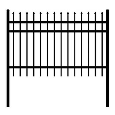 ALEKO Rome Style DIY Disassembled Steel Yard Fence 6Ft x 6Ft Black