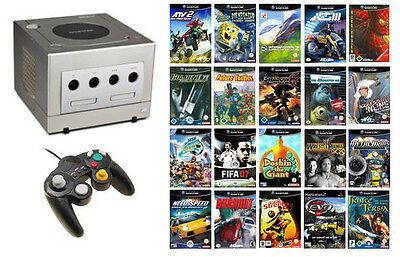Gamecube Megapack inkl. 3 Spiele und Controller / (Farbe: silber)