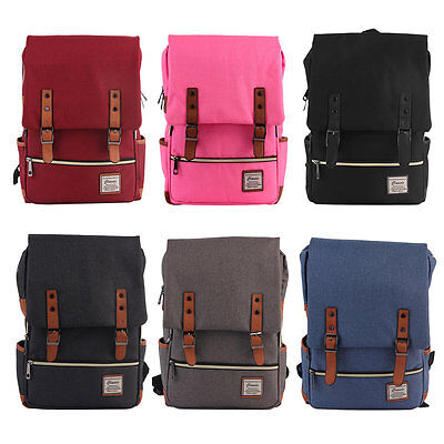 Unisex Canvas Schoolbag Casual Travel Backpack Fashion Vintage Satchel NR