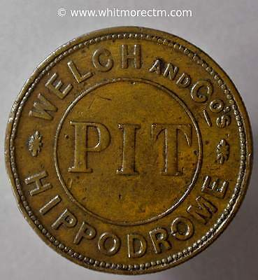 Ticket Pass Token Birmingham Hippodrome Pit Galloping horse 32mm By Pope - XH317