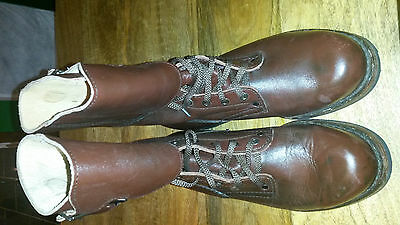 Genuine Very Rare Old Type Polish Army Double Buckle Boots Opinacze