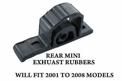 Pair Rear Mini Cooper One Exhaust Rubber Hanger Support Mount Silencer 255-219
