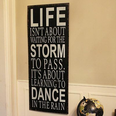 Dance in the Rain metal wall plaque sign hanging hallway home vintage
