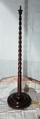 Large Mahogany Standard Lamp 54 inches high 18 inches Base Dia