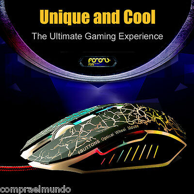 Professional Gaming Mouse Adjustable 2400 DPI 3D Optical USB 2.0 For Laptop PC