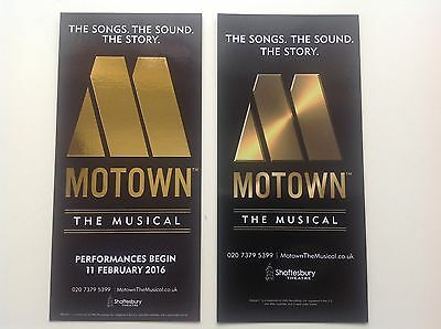 2 x different Flyers MOTOWN The Musical Shaftesbury Theatre