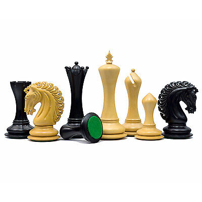 The Large Empire Knight Ebony Luxury Chessmen with 4.5 inch King RCP137