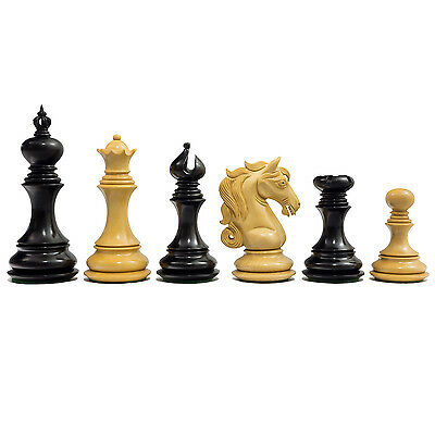 """The Cavalry The Cavalry Series Luxury Chessmen in Ebony with 4.25"""" King RCP127"""