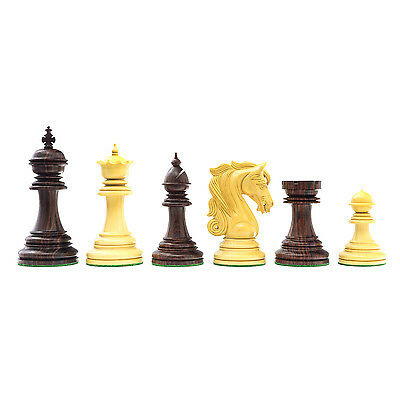 The Large Kingsgate Rosewood Luxury Chessmen with 4.25 inch King RCP146