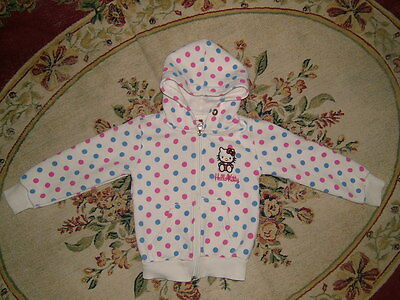 Hello Kitty Little Girl Cute Spotted Jacket Size 3 Y Good Condition