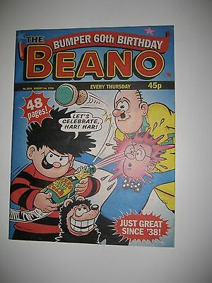 "Beano Bumber ""60th Birthday"" comic issued 1st August 1998 Number 2924"