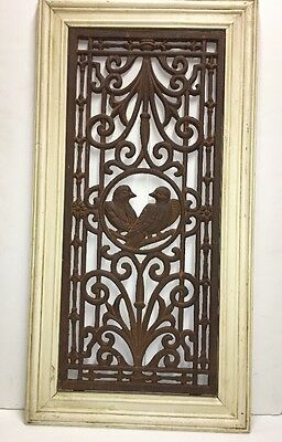 "Antique Architectural Wrought Iron ""Lovebird""  Decoration"