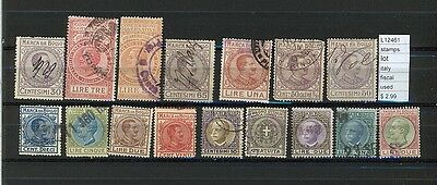 Stamps Lot Italy Regno Fiscal   Used   (L12461)