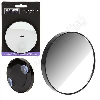 Magnifying Mirror Close Up 15x Magnification Makeup Cosmetic Eyebrow Suction Cup
