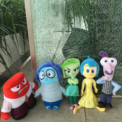 13-37cm Inside Out Plush Toys Dolls Joy Anger Sadness Disgust Fear Kids Gift Lot