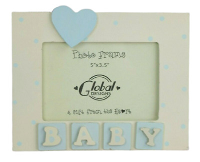 Photo Frame Baby Blue Boy 3D Baby Scan Picture Nursery New Born Gift F0427B