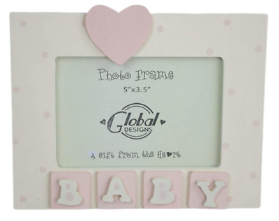 Baby Pink Photo Frame 3D Baby Scan Picture Frame Nursery Girl Gift F0427A