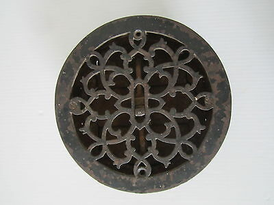Antique Victorian cast iron floor heating vent grate grill register with loovers