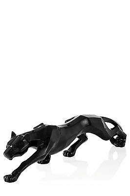 Art Deco Panther Statue Prowling Black Leopard Sculpture Figurine Ornament Gift