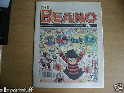 Beano Dennis the Menace 40th Anniversary Issue No. 2539, 16/03/91 - REPRODUCTION