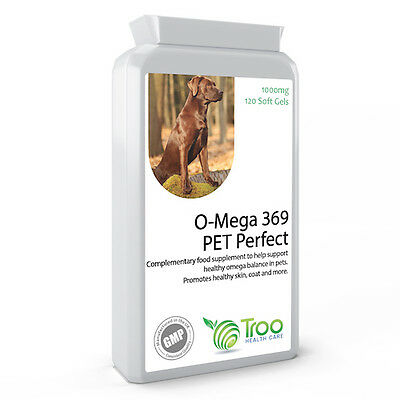 Omega 3,6,9 Fish Oil Complex 1000mg for Cats and Dogs Coat, Skin Health Support
