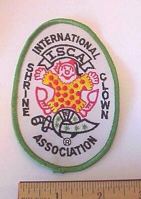 Shrine International Clown Association Isca Embroidered  Clown Sew On Patch