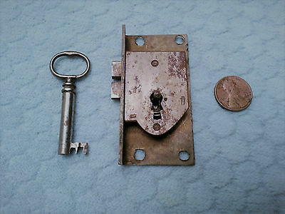 Cupboard Door Lock Cast Brass & Iron