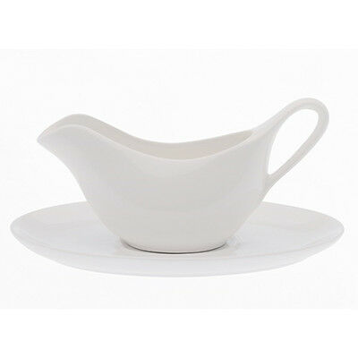 Maxwell & Williams White Basics Accessories Gravy Boat & Saucer Gift Boxed