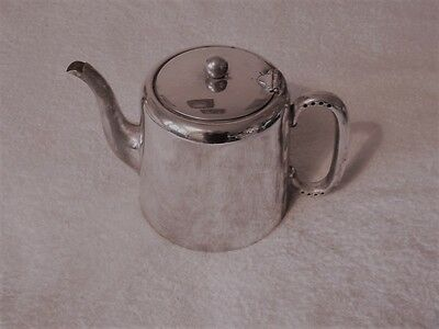 Silver Plated Tea Pot Reg. PLATO E.P.N.S. 8 V MADE IN ENGLAND