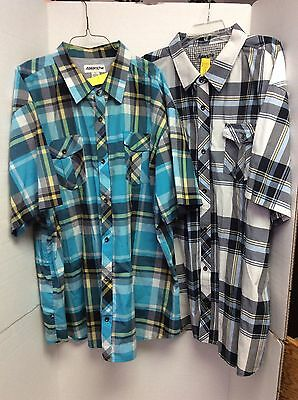 Lot Of 2 Mens Button Down Shirts Size 5Xl