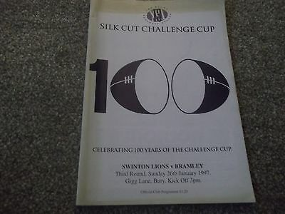 Rugby League Challenge Cup Swinton Lions V Bramley @ Bury Fc 26Th January 1997