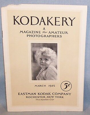 Vintage KODAKERY Photography Magazine-March 1925-Picturing the Children