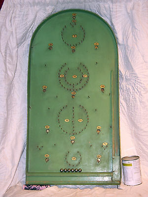 Vintage Spring Loaded Bagatelle Board With Original Ball Bearings Good Condition
