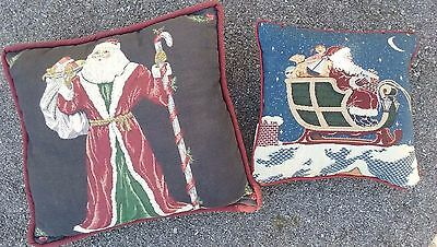 Set of 2 Santa Tapestry Pillows