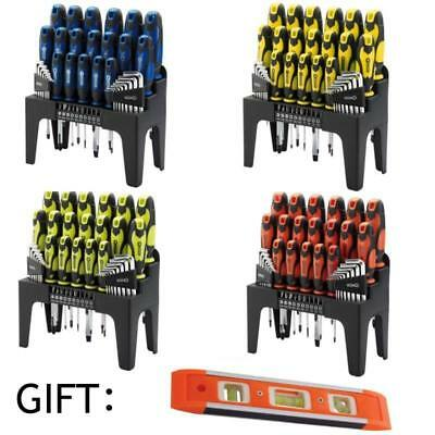 Draper 44pc Magnet Screwdriver Spirit Allen Hex Bit Keys Torx Home Tool Set Kit