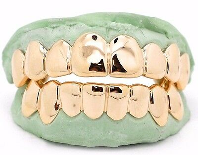 CUSTOM GOLD GRILLZ 10k 14k 18k Gold Solid Perm Cuts Pullout
