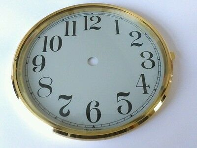 Brass Clock Bezel and Glass 160mm Arabic Dial