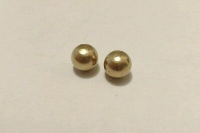 Clock Polished Brass Ball Feet 12mm Diameter 10mm Height