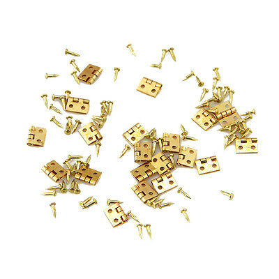 New Fantastic 20pcs Mini Metal Hinge for 1/12 House Miniature Cabinet Furniture