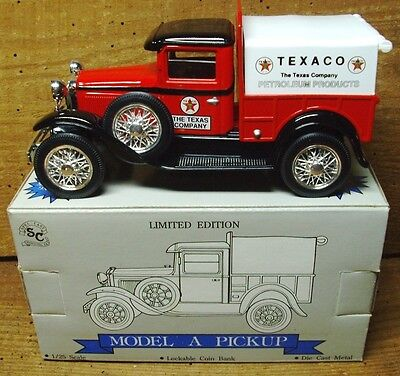 Texaco Model A Ford Pickup  <NOS Collectible> Die Cast Bank