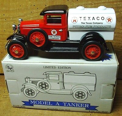 Texaco Model A Tanker Truck  NOS Collectible  Die Cast Bank
