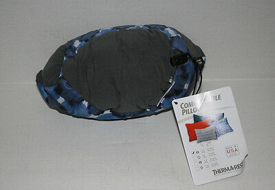 Therm-A-Rest Compressible Indigo Blue Pillow, Small 7 oz. Camping backpacking