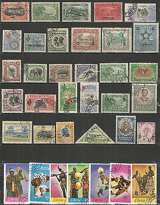 Liberia nice collection old  used stamps