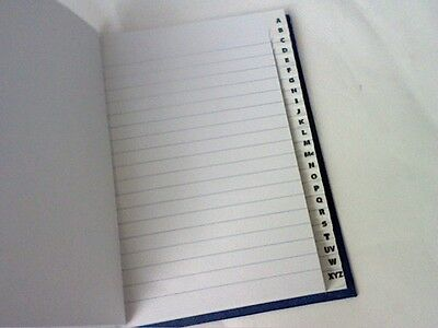 A6  A-Z ADDRESS INDEXED/FEINT BLUE HARDBACK BOOK 192 page-PRICE REDUCED!!!