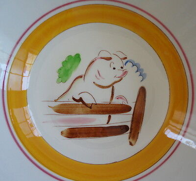 """Stangl Pottery Country Life Hard to Find PIG Large 10"""" Serving Bowl"""