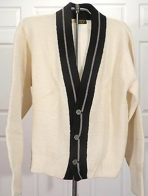 Vintage 50s  60s Wool Sweater Cardigan